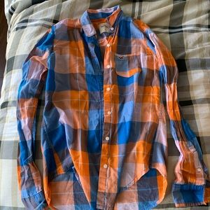 Plaid Juniors/Women's Button Up Top